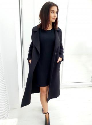 Płaszcz wełniany OSETO czarny