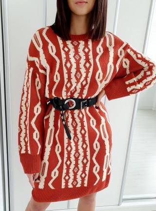 Sukienka OFELIA ruda