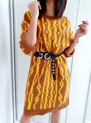 Sukienka OFELIA brąz