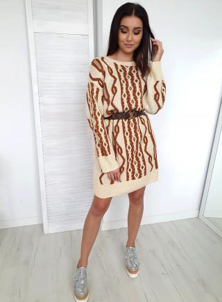 Sukienka OFELIA beżowa
