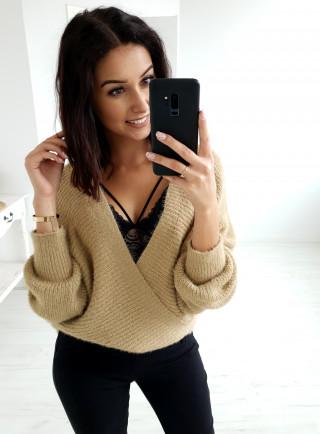 Sweter PAESE ciemny beż