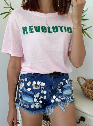 T-shirt REVOLUTION puder