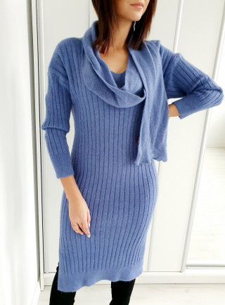 Sukienka MANABA niebieska