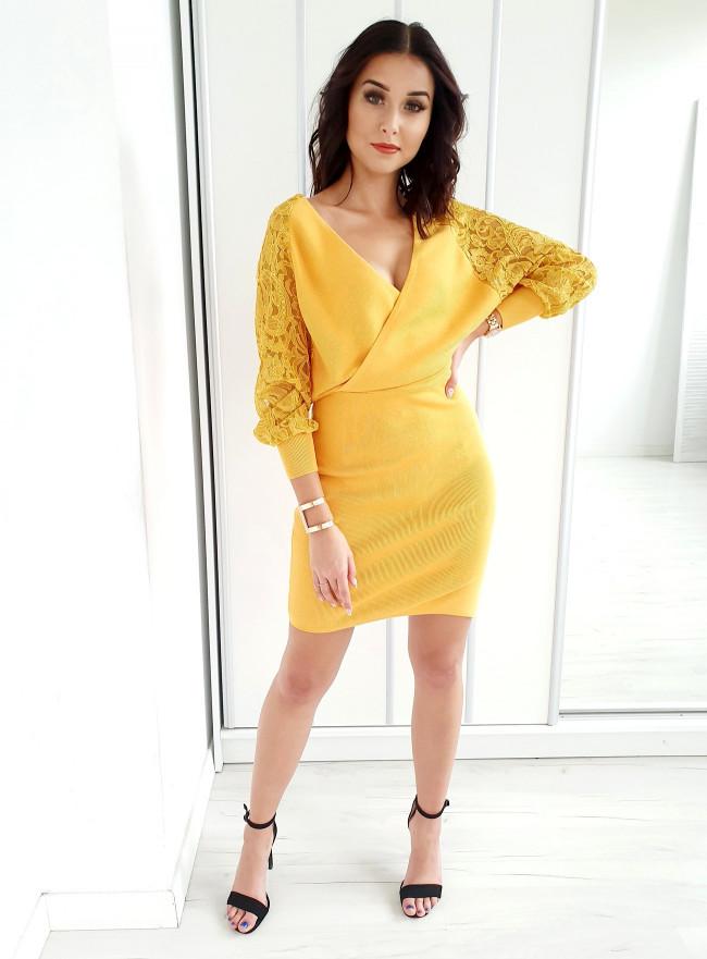 Sukienka z dekoltem CUORE nero