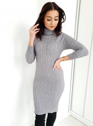 Sukienka ELEGA szara