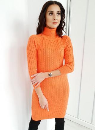 Sukienka ELEGA pomarańcz