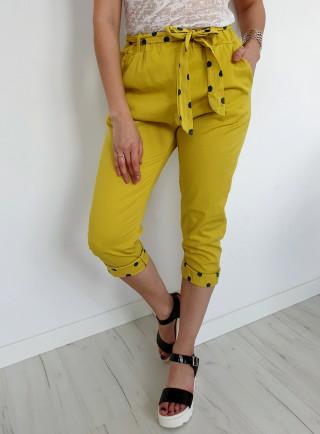 Spodnie PUNTI żółte