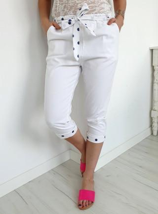 Spodnie PUNTI białe
