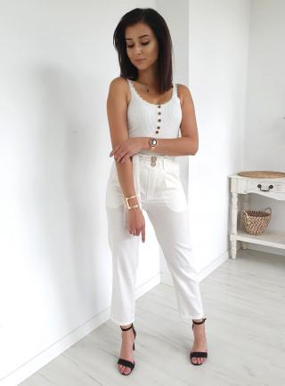 Spodnie LACE białe