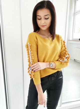 Sweter PELAGIA żółty