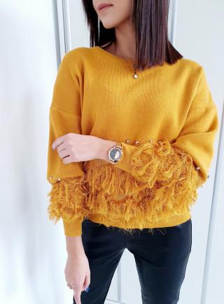 Sweter FOLLOW żółty
