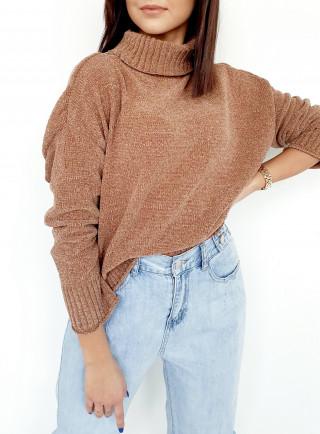 Sweter MAGNOLINE brąz