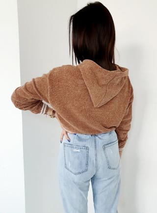 Sweter INGRID brąz
