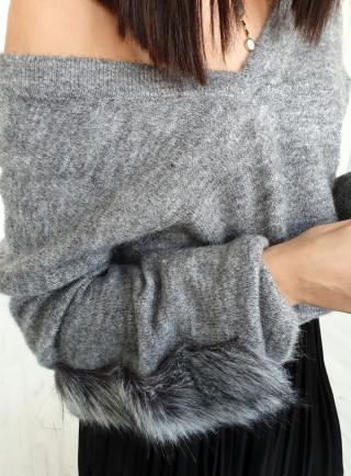 Sweter RAVIN szary