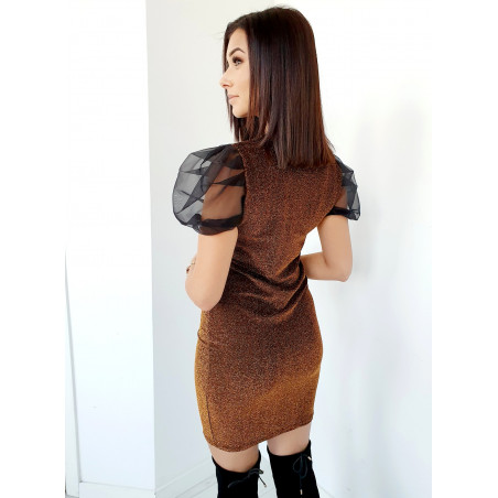Skórzana spódnica frędzle beżowa