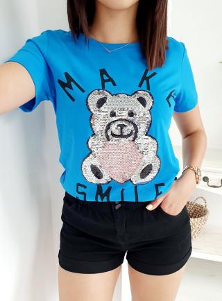 T-Shirt ORSO niebieski