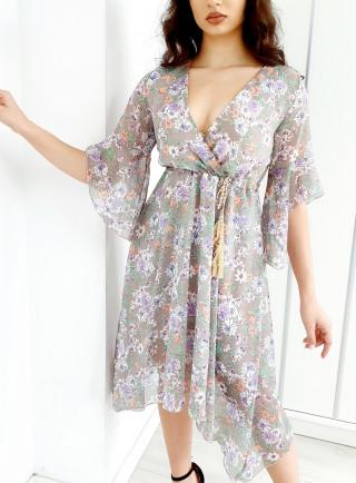 Sukienka CLARIS szara