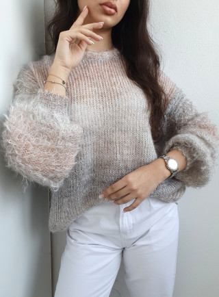 Sweter OMBRE szary