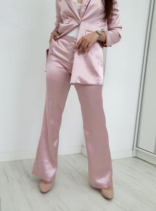 Spodnie satyna CLASSY puder