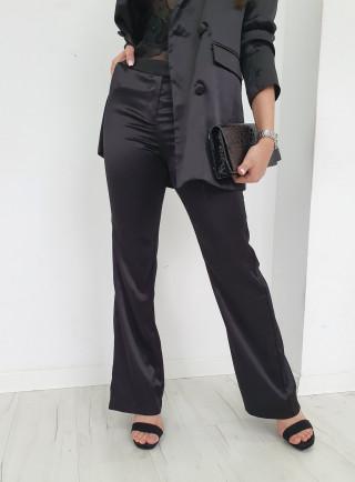 Spodnie satyna CLASSY czarne