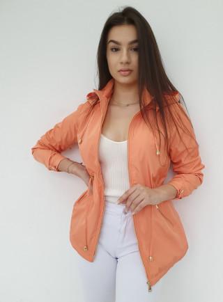 Kurtka parka NET pomarańcz