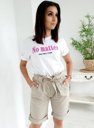 Szorty MARINA beż size+