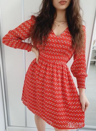 Sukienka CREMA rosso