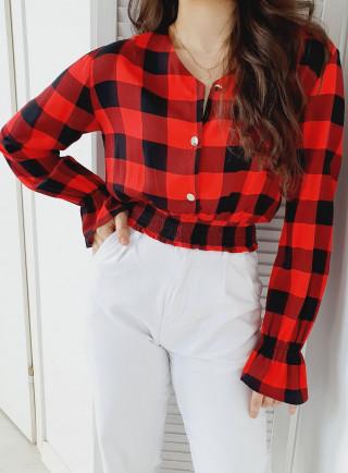 Bluzka BOLZANO czerwono czarna