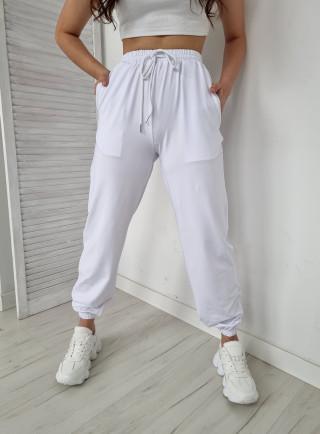 Spodnie dresowe MIKI białe