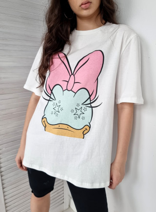T-shirt DUCK biały