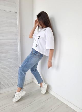 T-shirt GATTI biały