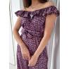 Klasyczna sukienka FIONA pudrowy róż