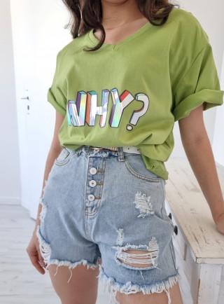 T-shirt WHY zielony
