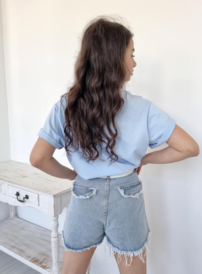 Klasyczne spodnie z rozcięciem czarne
