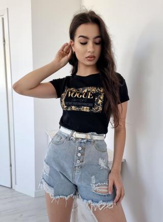T-shirt VOGUE czarny