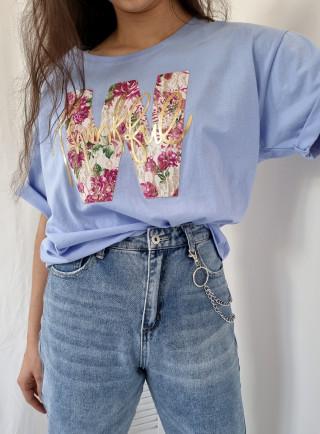T-shirt ASTRO niebieski
