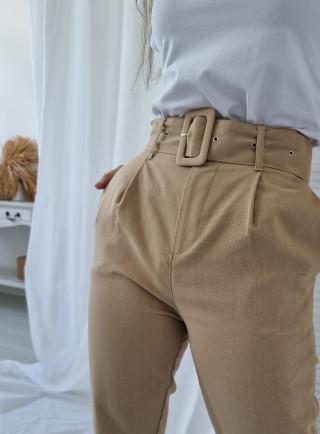 Spodnie GRANO len beż