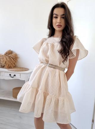 Sukienka ANCHIANO beżowa