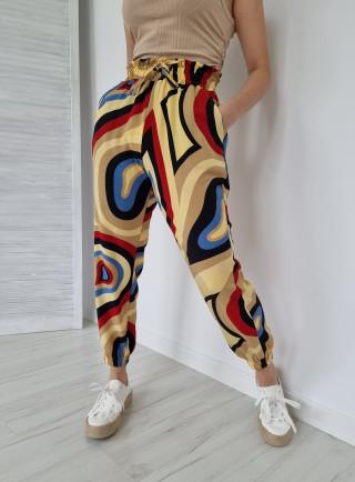Spodnie haremki MODELLI żółte
