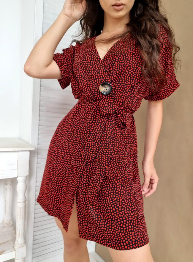 Sukienka FOGLIA czerwona