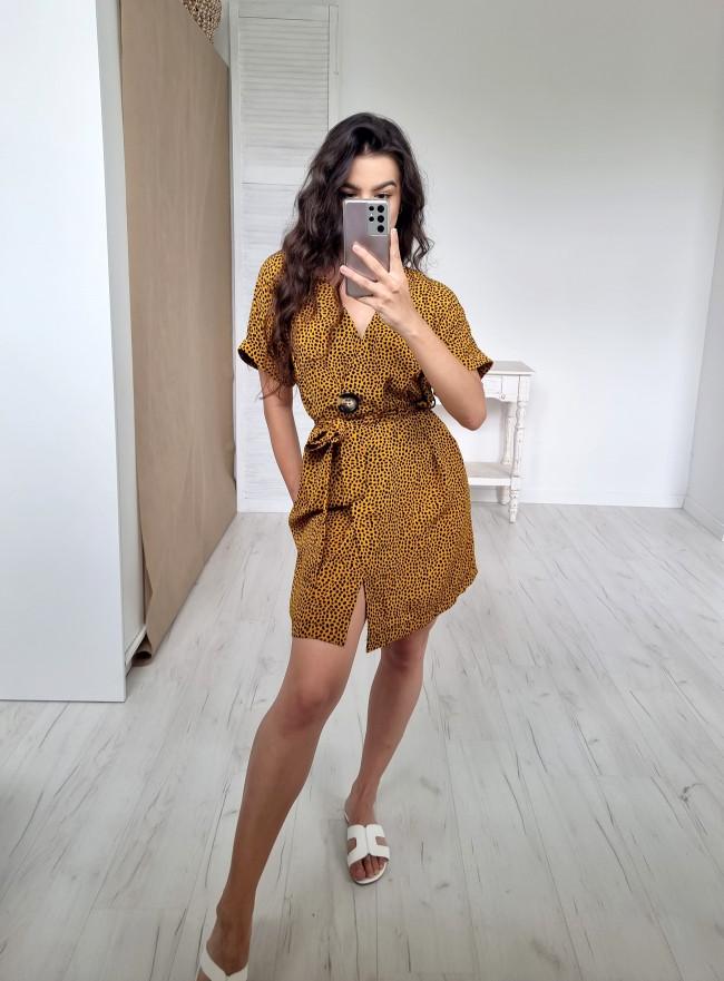 Sukienka FOGLIA żółta
