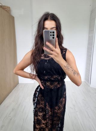 Sukienka maxi lampas OMBRONE czarna