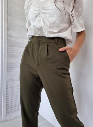 Spodnie wizytowe ROCHER khaki