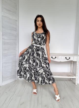Sukienka midi wiskoza RENO czarna