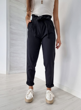 Spodnie len BALDO czarne