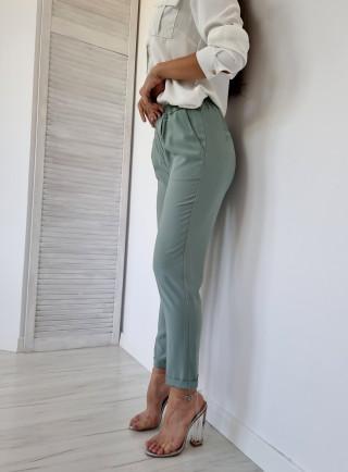 Spodnie wizytowe ELEGANTE oliwkowe