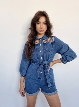Kombinezon krótki ABILIO jeans