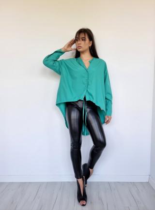Koszula asymetryczna FASHION zielona