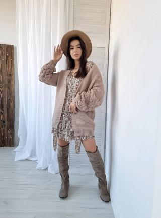 Ażurowy sweterek MIKY szary
