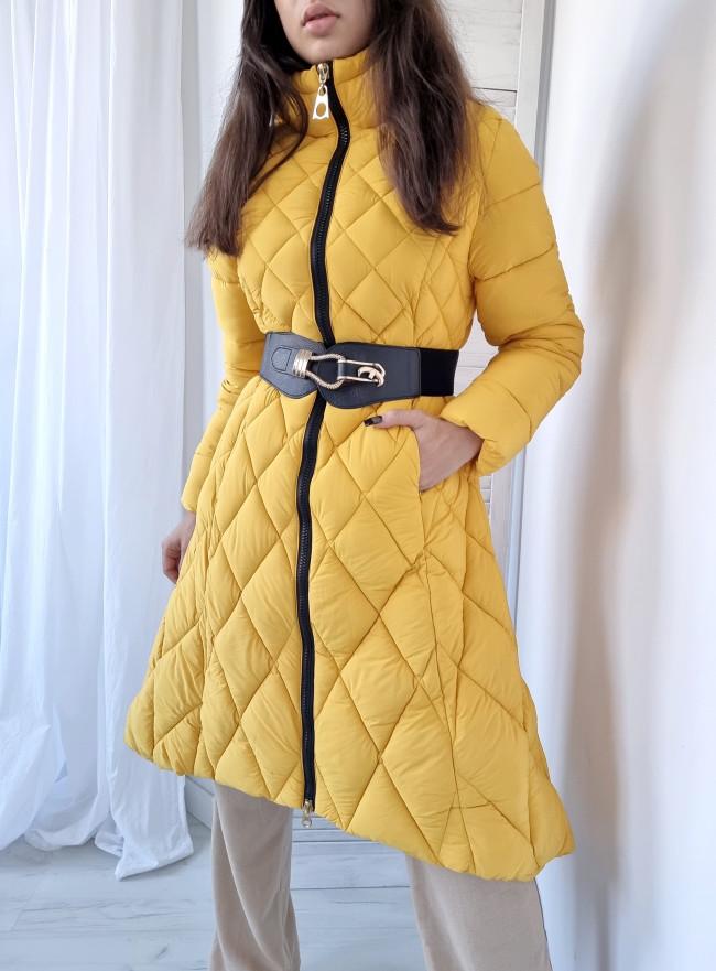 Koszulowa sukienka JENNY pomarańcz size+